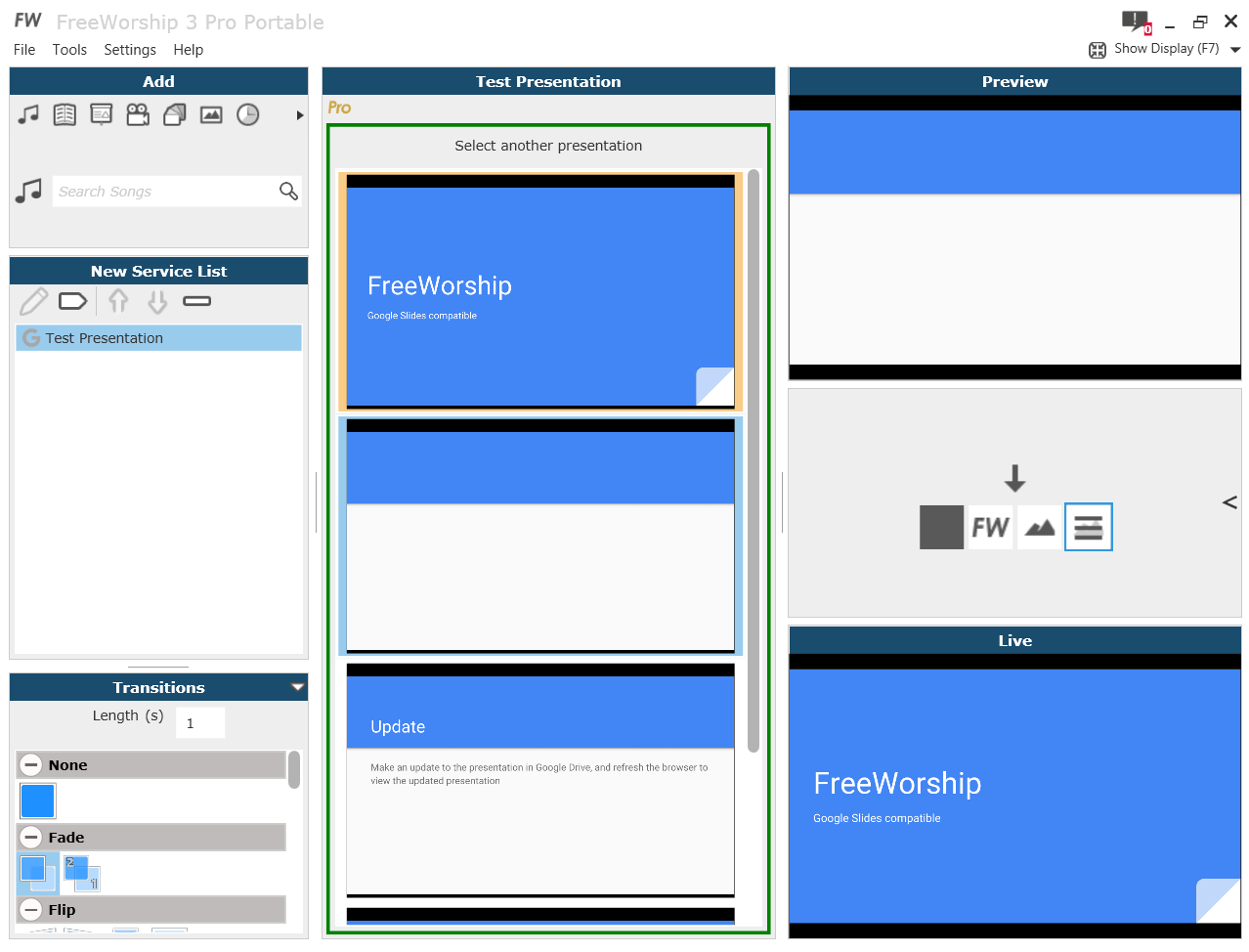 Google Slides Presenting